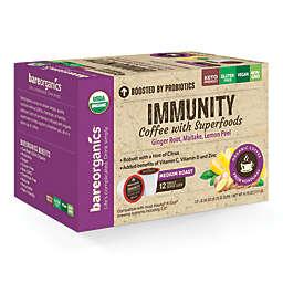 BareOrganics® Immunity Coffee Pods for Single Serve Coffee Machines 12-Count