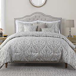 VCNY Home Neisha Damask Jacquard 6-Piece King Comforter Set in Grey