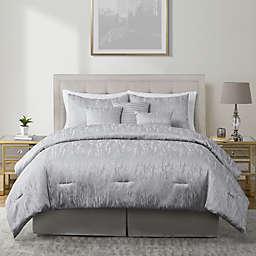 VCNY Home Reva Jacquard 7-Piece Full/Queen Comforter Set in Grey
