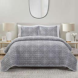 Lolan 3-Piece Quilt Set in Grey
