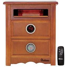 Dr. Infrared Nightstand Design Heater in Cherry