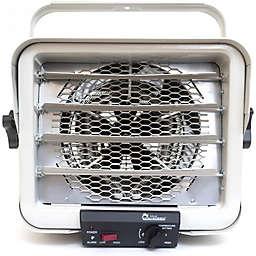 Dr. Infrared Heater™ 240-volt Hardwired Shop Garage Heater in Grey