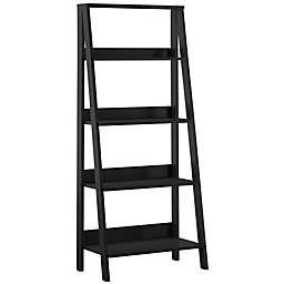 Forest Gate™ 55-Inch Modern Ladder Bookcase in Black