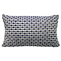 Bee & Willow™ Home Slub Stitch Oblong Throw Pillow in Ivory/Blue