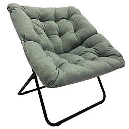 Simply Essential™ Foldable Square Lounge Chair in Light Grey