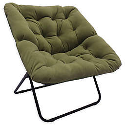 Simply Essential™ Foldable Square Lounge Chair in Green