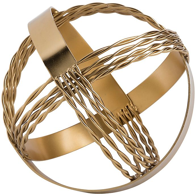 Alternate image 1 for Home Essentials & Beyond™ 9-Inch Decorative Sphere in Gold