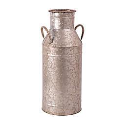 Home Essentials & Beyond 20-Inch Galvanized Flower Bucket in Silver