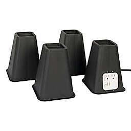 Simply Essential ™ Bed Lift with Outlets and USB Ports (Set of 4)