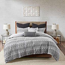 INK+IVY Rhea 3-Piece King/California King Comforter Set in Grey