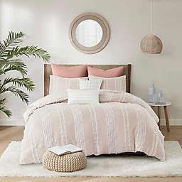 INK+IVY Kara 3-Piece Full/Queen Reversible Comforter Set in Blush