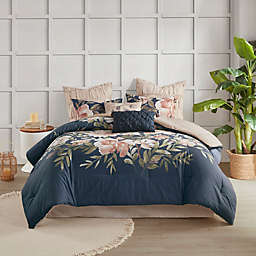 Madison Park® Camillia 8-Piece Queen Comforter Set in Navy