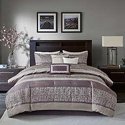 Madison Park® Rhapsody Woven Jacquard 7-Piece Queen Comforter Set in Purple