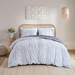 Madison Park® Aitana Tufted Cotton Chenille 3-Piece King/California King Duvet Cover Set in Blue