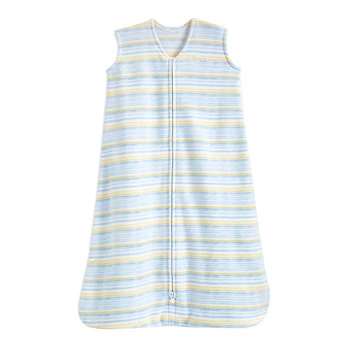 Alternate image 1 for HALO® SleepSack® Large Microfleece Wearable Blanket in Blue Stripe