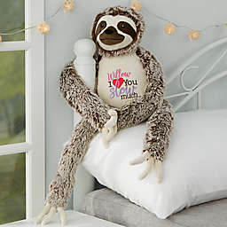 """I Love You Slow Much"" Personalized Long Legged Sloth Stuffed Animal"