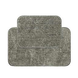 Clean Start 2-Piece Bath Rug Set in Grey