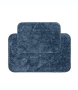 Tapetes para baño de poliéster Mohawk Clean Start color azul grisáceo, Set de 2