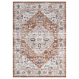 Abacasa Summit Rawlins 3'11 x 5'7 Area Rug in Rust/Multicolor