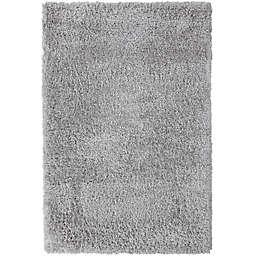 Abacasa Cozy 7'10 x 10'6 Shag Area Rug in Silver