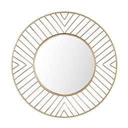 Safavieh Fonna 30-Inch Round Wall Mirror in Gold