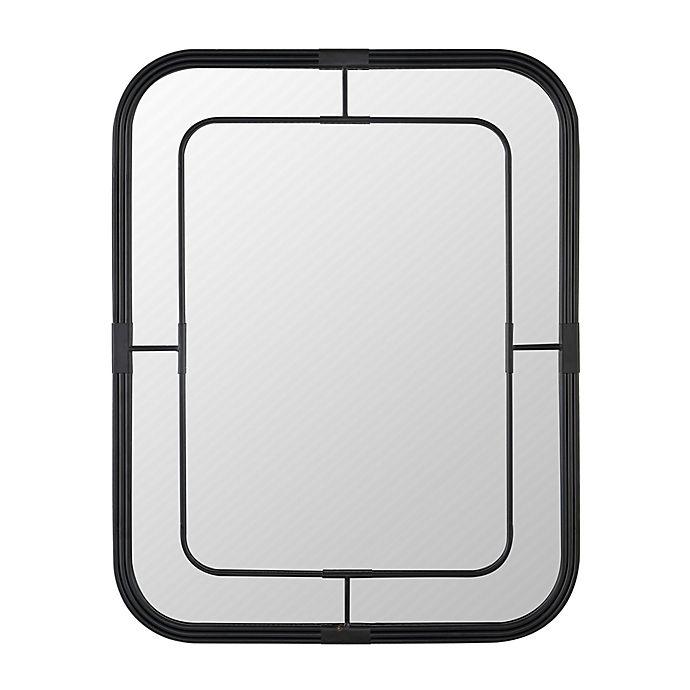Alternate image 1 for Safavieh Silter 28-Inch x 22-Inch Rectangular Wall Mirror in Jet-Black