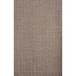 Abacasa Vintage 5'3 x 7'6 Handcrafted Area Rug in Dark Brown/Ivory