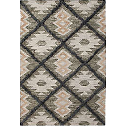 Abacasa Fes Handcrafted Area Rug in Grey/Natural