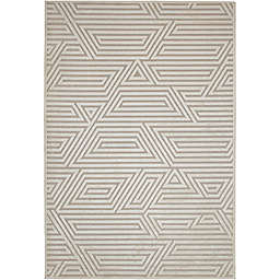Abacasa Napa Orbit Area Rug in Ivory