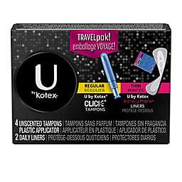 U by Kotex 6-Count Panty Liner Travel Pack