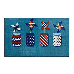 """Mohawk Home® 2'6"""" x 4'2"""" Prismatic Pinwheels Accent Rug in Blue"""