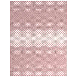 """Abacasa Sonoma Merriam 7'10"""" x 10'10"""" Area Rug in Pink/Ivory"""