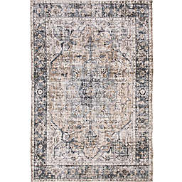 Abacasa Rose Galveston Rug in Charcoal/Brown