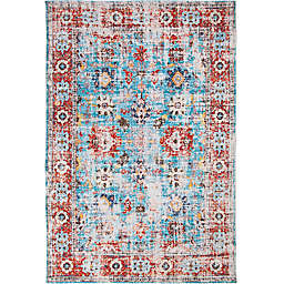 Abacasa Rose Linville Rug in Red/Blue
