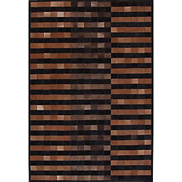 Abacasa Geo Hide Area Rug in Brown/Multicolor