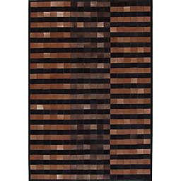 Abacasa Geo Hide Area Rug in Brown/Multicolor