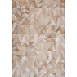 Abacasa Geo Hide Area Rug in Ivory/Multicolor