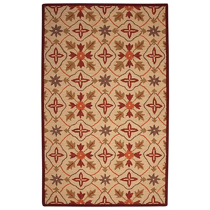 Alternate image 1 for Abacasa Lifestyle Kinsley 5' x 8' Handcrafted Area Rug in Beige/Red