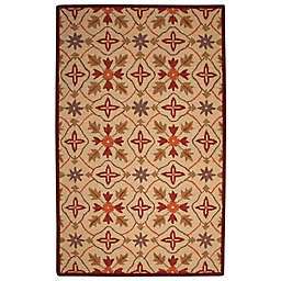 Abacasa Lifestyle Kinsley 5' x 8' Handcrafted Area Rug in Beige/Red