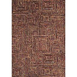 Abacasa Lifestyle Tipton 5'x 8' Handcrafted Area Rug in Dark Brown/Multicolor