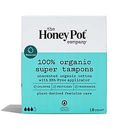 The Honey Pot 18-Count Organic Super Tampons