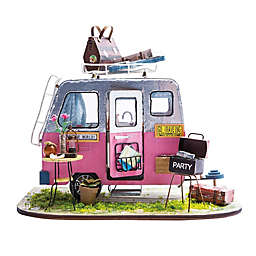 Happy Camper 86-Piece 3D DIY Mini Dollhouse Camper Puzzle