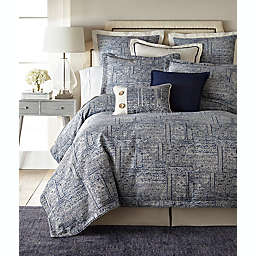 Thread and Weave Brentwood 3-Piece Duvet Cover Set in Blue/Ivory