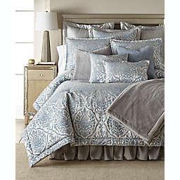 Belmont 3-Piece Duvet Cover Set in Blue/Ivory