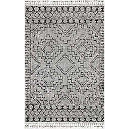nuLOOM Vasiliki Moroccan Tribal Tassel Area Rug in Grey