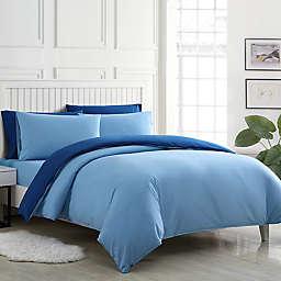Poppy & Fritz®  Audrey Solid Reversible Full Duvet Cover Bonus Set in Blue