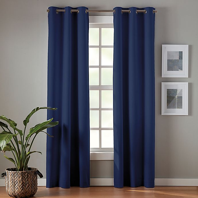 Alternate image 1 for Simply Essential™ Robinson Grommet 100% Blackout Window Curtain Panels (Set of 2)