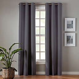 Simply Essential™ Robinson 63-Inch Grommet Blackout Curtain Panels in Charcoal (Set of 2)