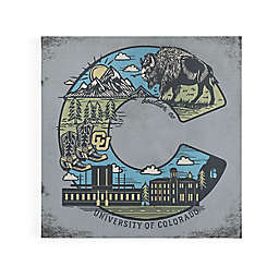 University of Colorado State Flag Campus Scene Canvas Wall Art