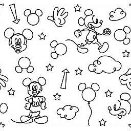 RoomMates® Disney® Mickey Mouse Line Art Peel & Stick Wallpaper
